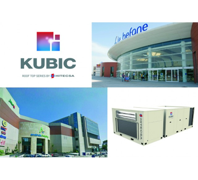 Hitecsa - The KUBIC RCF Roof Tops by Hitecsa provide climate control to two Commercial Centres in Italy and Portugal