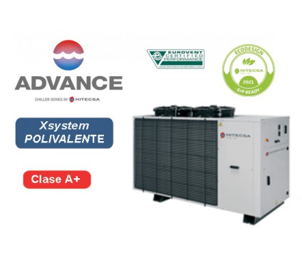 EQP2X  | AIR-WATER POLYVALENT SYSTEM | 4 TUBES | AXIAL | SCROLL