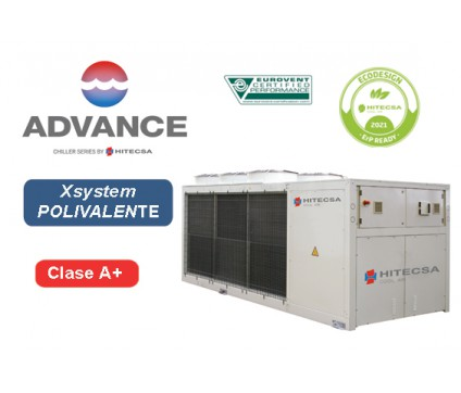 EQP3X | AIR-WATER POLYVALENT SYSTEM | 4 TUBES | AXIAL | SCROLL
