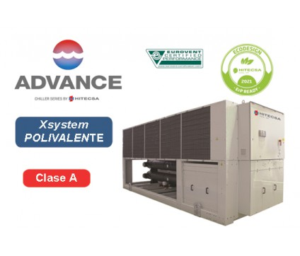 EQP4X | AIR-WATER POLYVALENT SYSTEM | 4 TUBES | AXIAL | SCROLL
